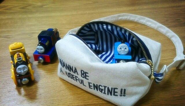 handmade bag for boy 「ぼくは役に立つ機関車になりたいんだ!」