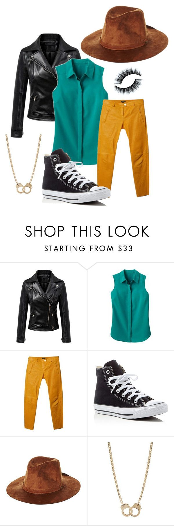 """""""Curse you Perry the platypus!"""" by sarahlackner ❤ liked on Polyvore featuring Chicnova Fashion, TravelSmith, ESCADA, Converse, Brixton and Sugar NY"""