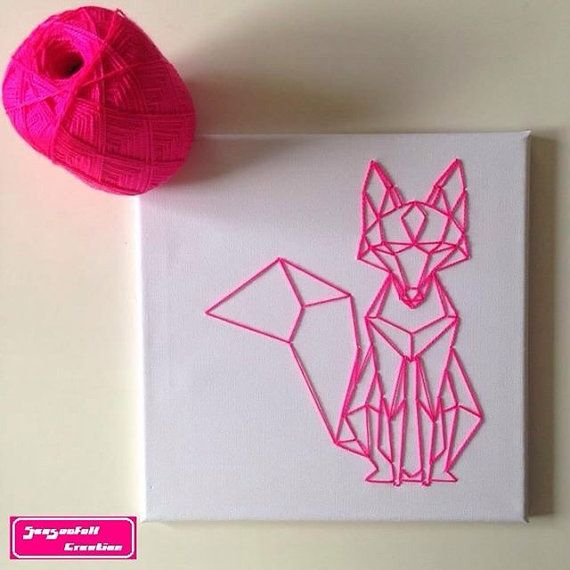 String art geometric fox