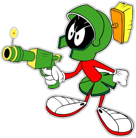 Cartoon Characters From The 00 S : Marvin the martian cartoon vinyl sticker can be by