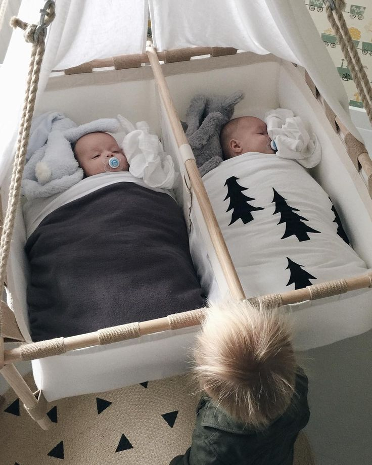 twins hanging cradle - oh the sweetness