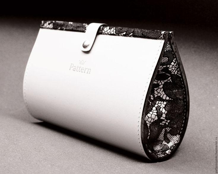 Купить Дизайнерский кожаный Клатч Косметичка Pattern Jewel - клатч ручной работы