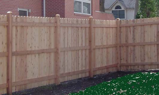 Dog Ear Fence Custom Wooden Fence Installation