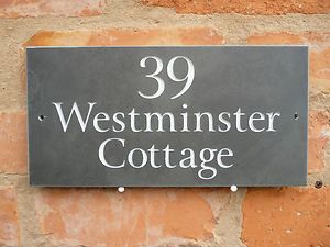 Slate House Sign 300mm x150mm ANY NAME / NUMBER!! High Quality   eBay