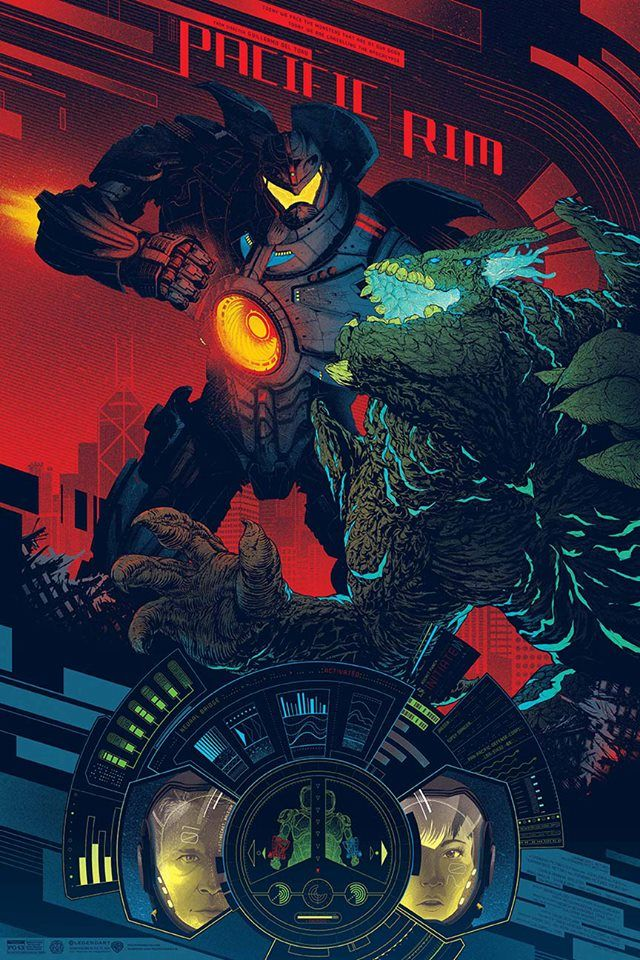 """Pacific Rim"" by Kevin Tong. 24″ x 36″ Screenprint. Ed of 375. $45"