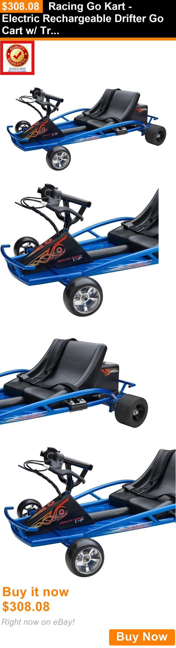 Complete Go-Karts and Frames 64656: Racing Go Kart - Electric Rechargeable Drifter Go Cart W/ Trigger Acceleration BUY IT NOW ONLY: $308.08