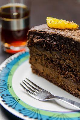 Spisekammeret: Chokolade lagkage med orangetrøffel og chokolade f...
