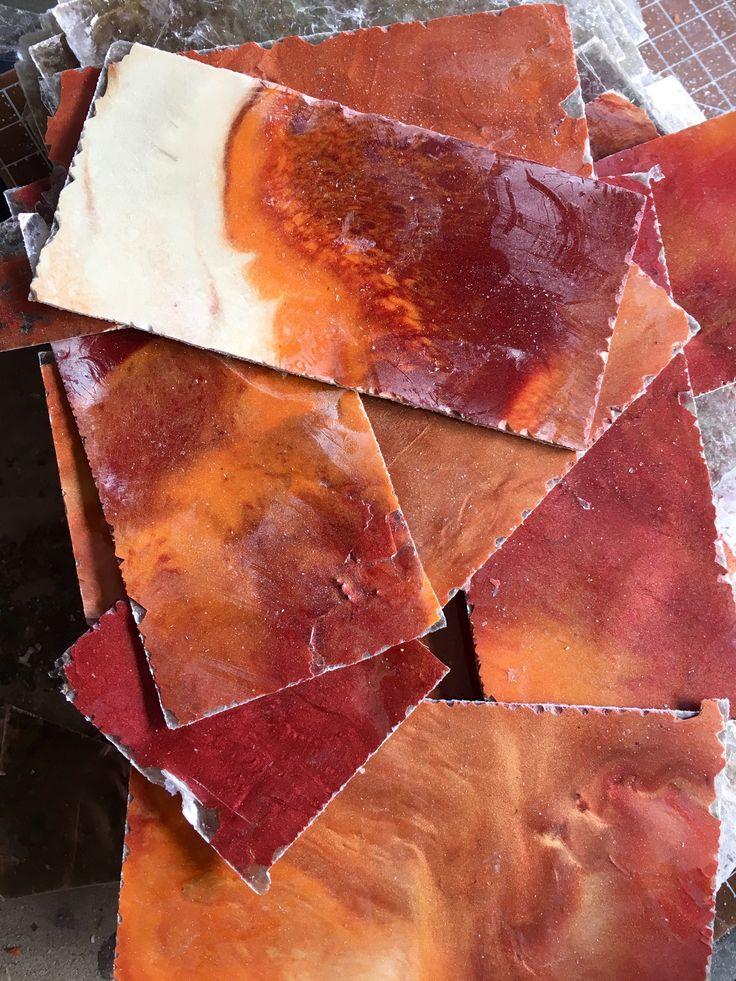 New mica rock paper subway tiles