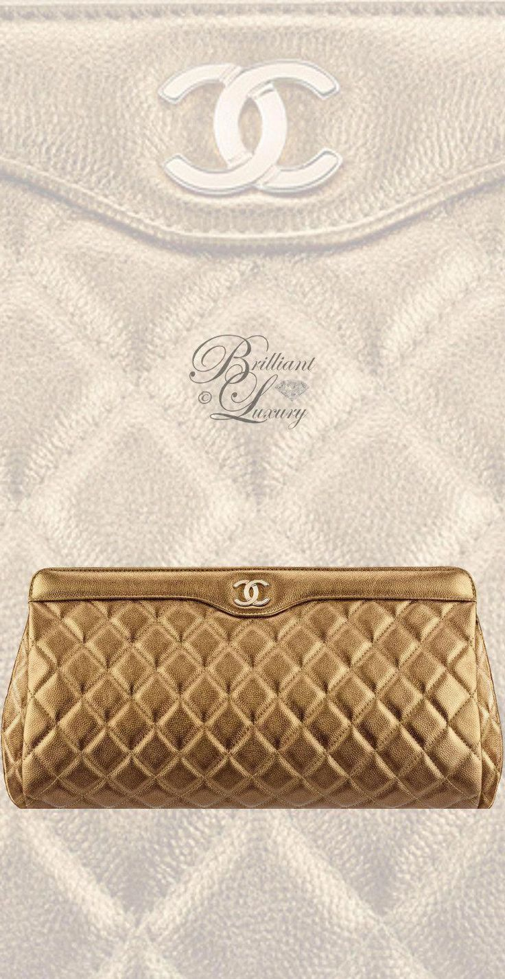Brilliant Luxury by Emmy DE ♦Chanel Metallic Clutch FW 2016/17 #Chanelhandbags…