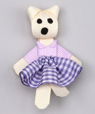 Take a look at this Purple Teddy Bear Clip by Pouty Posh on #zulily today!