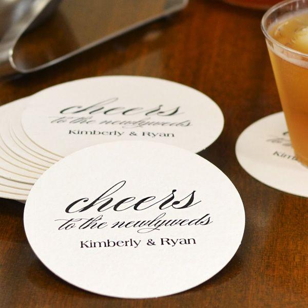 Custom Printed Round Pulpboard Wedding Drink Coasters