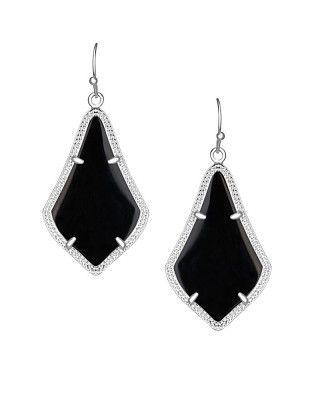 Alex Silver Earrings in Black