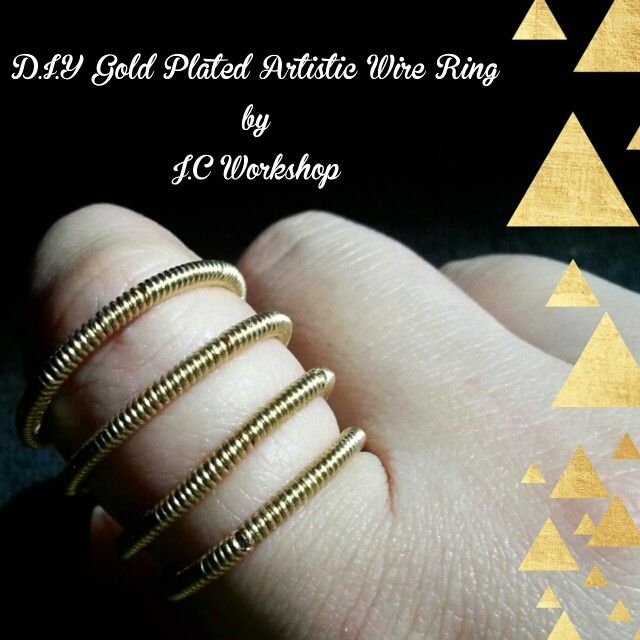 D.I.Y Gold Plated Artistic Wire Ring by J.C Workshop Interested Please Contact Us At Our Facebook Page J.C Workshop!