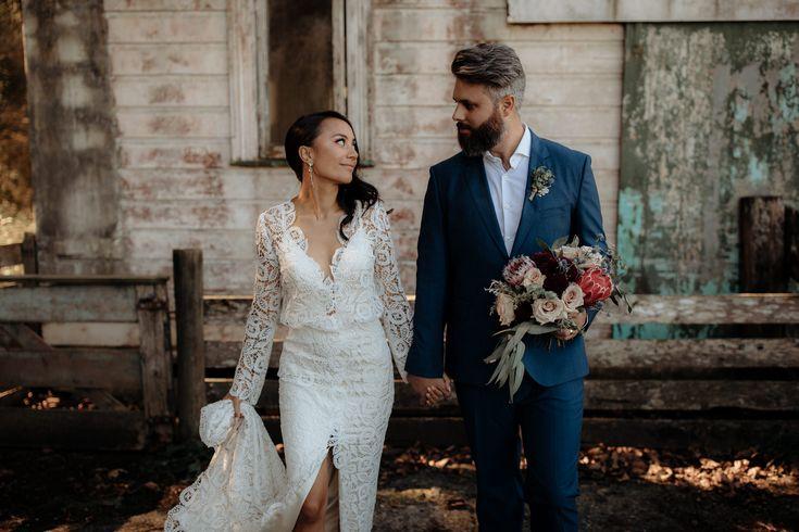 Mahina + Michael   Laudae Bride Halsey gown