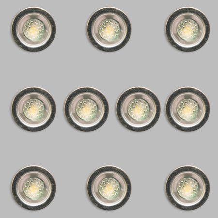 10er LED-Einbauset Cosi Mini: Schönes Set von 10 kleinen LED-Einbauleuchten! #Einbauleuchten #Badezimmerbeleuchtung #Außenbeleuchtung