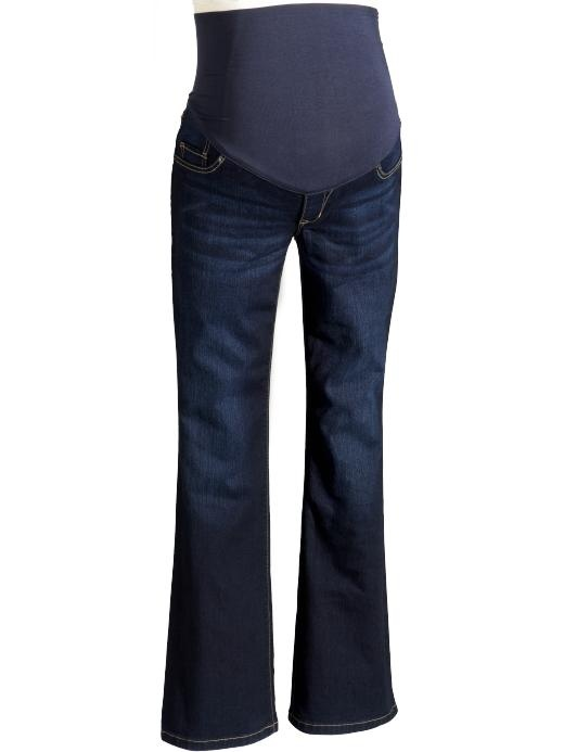 Old Navy maternity jeans, I bought two of those band things BC I grew out of all my jeans  & now I feel like they aren't working :( guess I'll be a old navy, gap, target this weekend