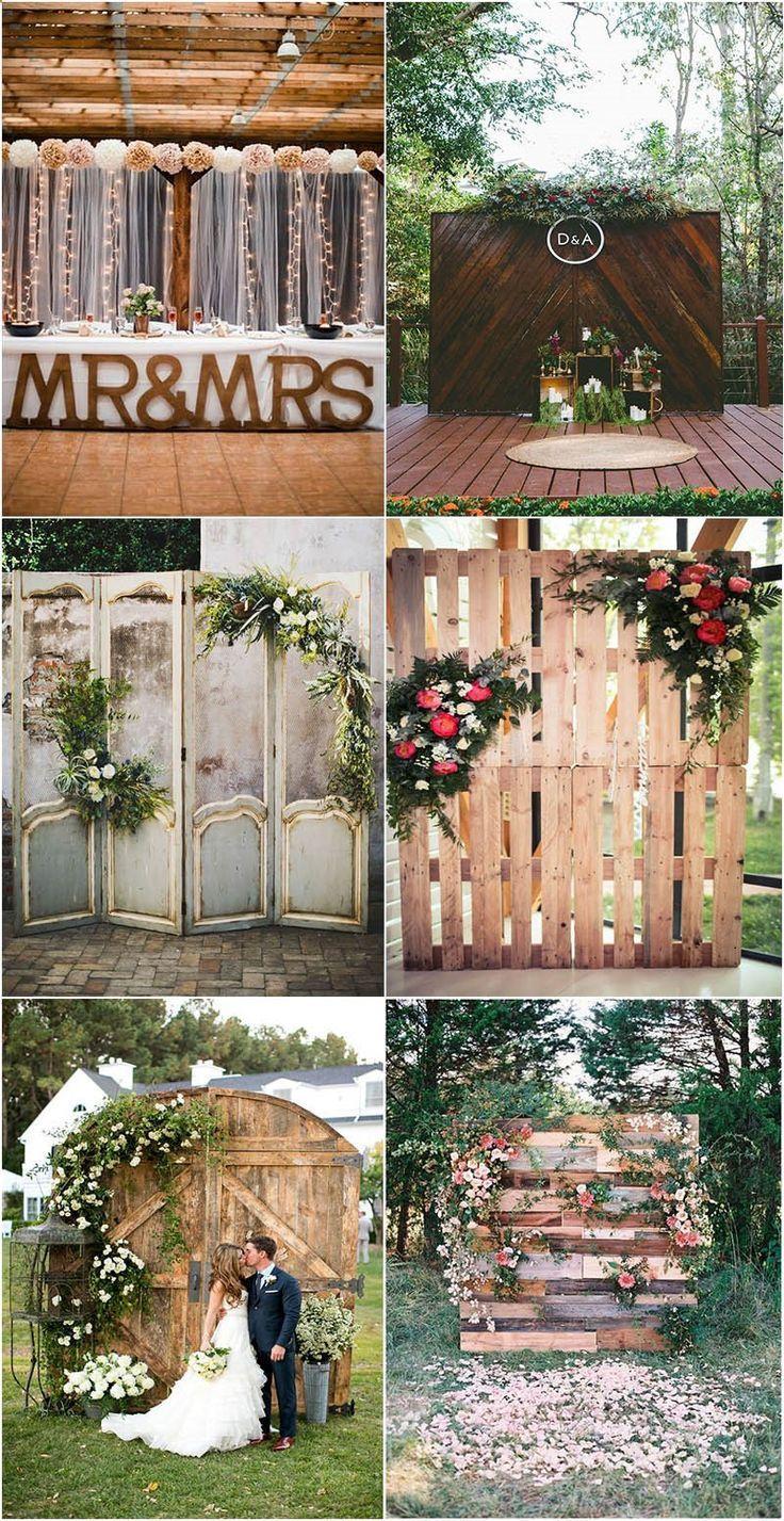 Heart Melting Wedding Backdrop Ideas To Love Mrs To Be Rustic Wedding Backdrops Vintage Wedding Backdrop Outdoor Wedding Backdrops