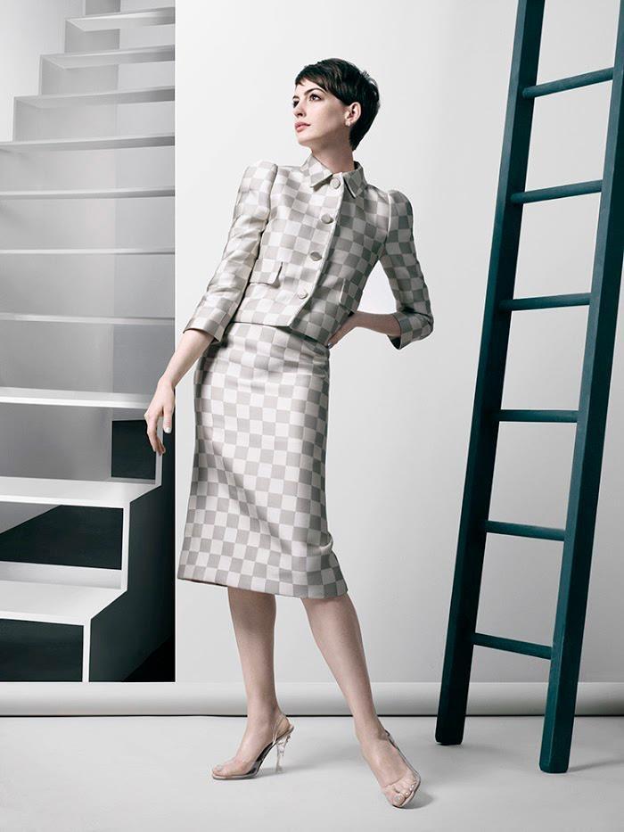 + Moda :     A bela Anne Hathaway fotografada por David Slijper, para a revista Bazaar inglesa (Fevereiro 2013).
