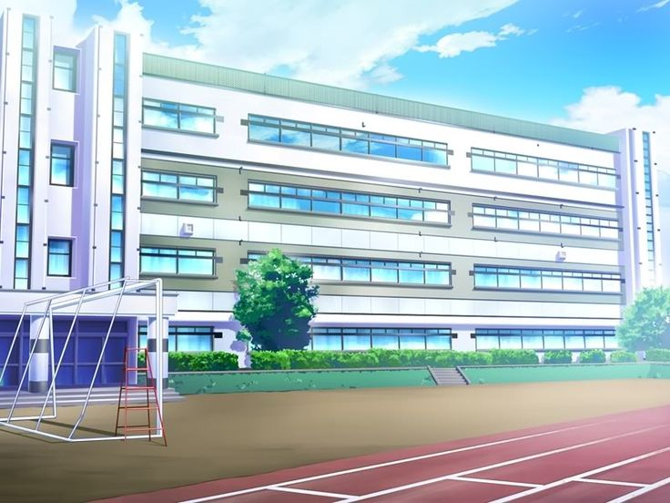 Manga School Building Drawings | Yume Public School, a a simple highschool with no frills and lots of ...