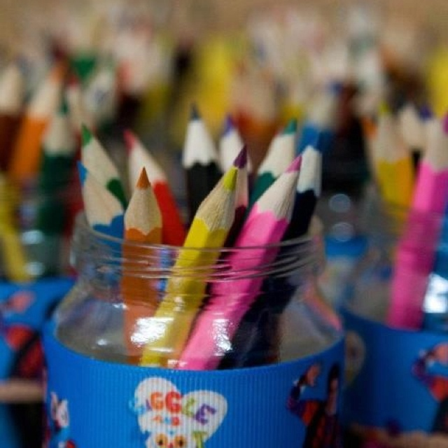 Coloring in pencils for our Giggle and Hoot party :)
