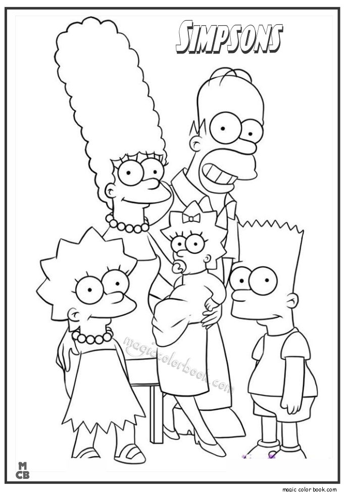 28 best Simpsons Coloring pages free online images on