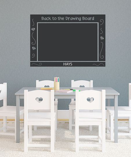'Drawing Board' Personalized Chalkboard Wall Decal Set