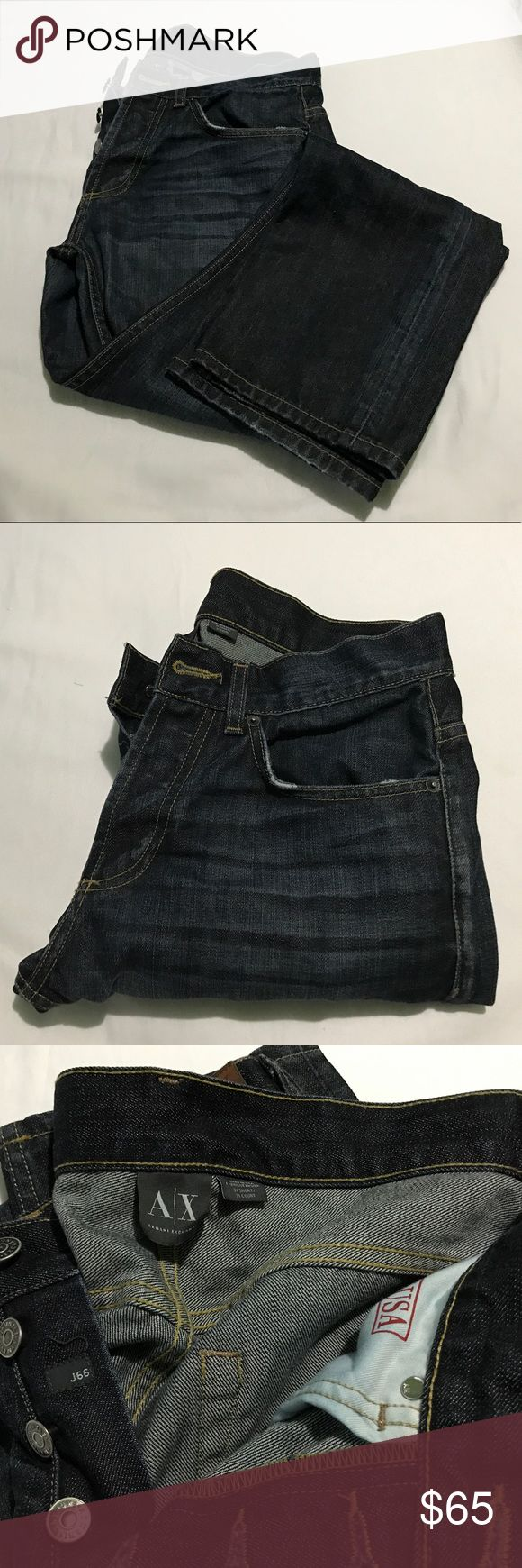 Men's A|X Armani Exchange Jeans Very high quality jeans. Looks and feel expensive. Button fly, size 31 x 30. Only wore this a couple times. In excellent shape and quality. A/X Armani Exchange Jeans Straight