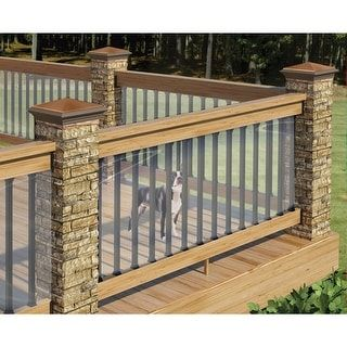"""Shop for Clear Plastic Deck Railing Shield - By Cardinal Gates - 180"""" Long x 35"""" High. Free Shipping on orders over $45 at Overstock.com - Your Online Home Improvement Shop! Get 5% in rewards with Club O! - 21531932"""