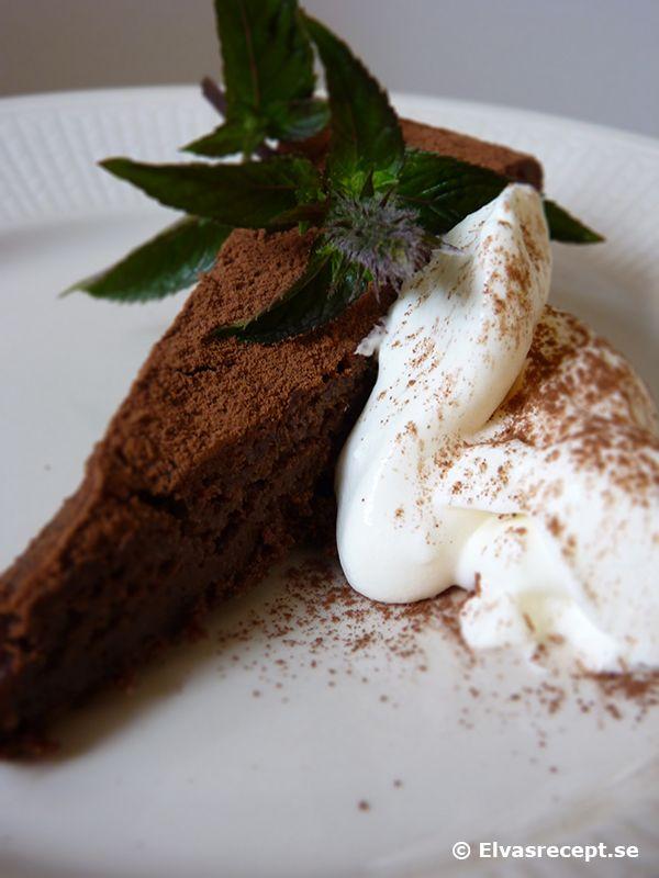 Fransk Chokladkaka - recept på kladdkaka med äkta choklad