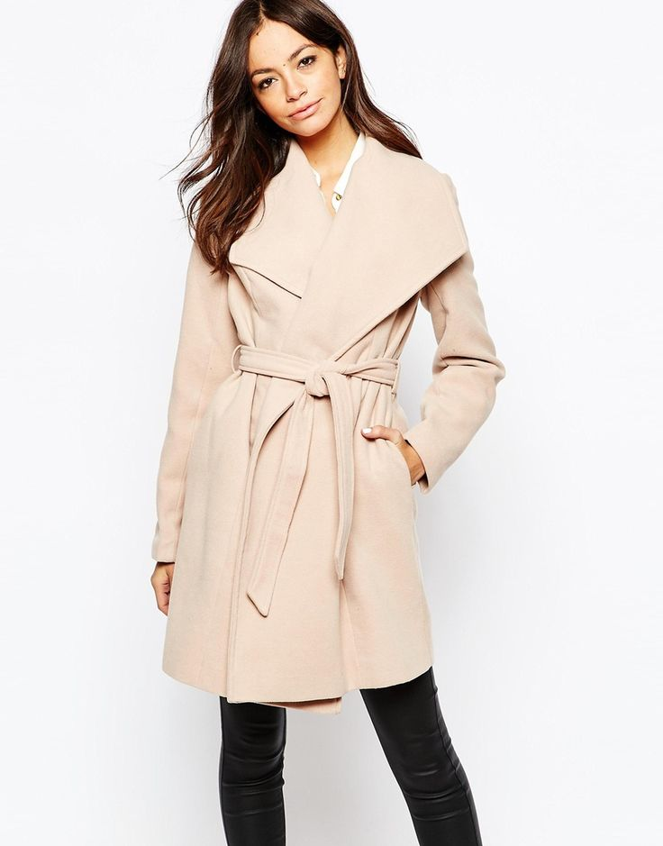 Image 1 ofNew Look Belted Wrap Coat