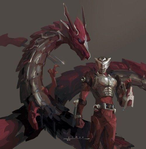 Kamen rider ryuki & Dragredder. That is such a sexy costume...