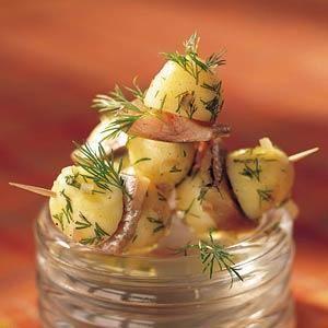 Hapje van krieltjes met haring - Taste Inspiration !