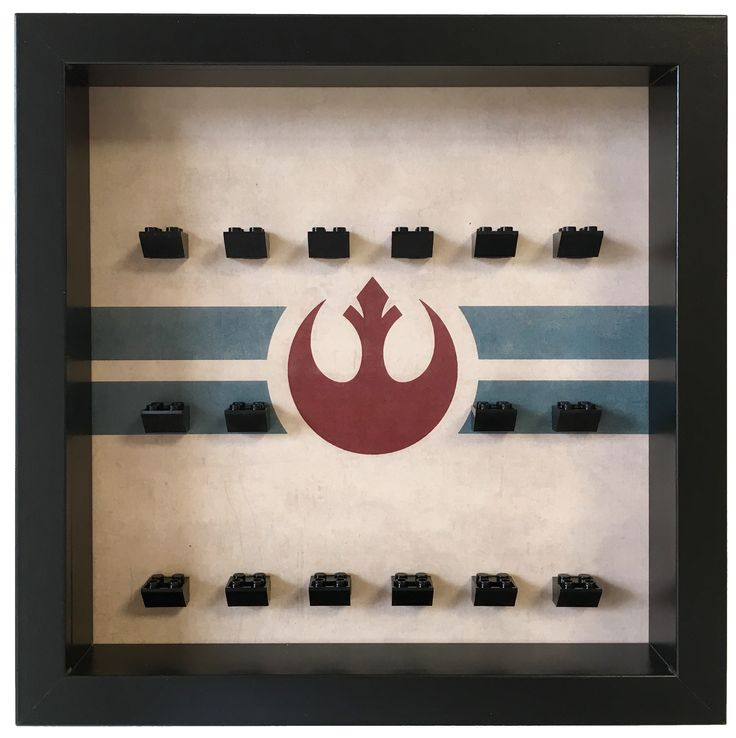 Lego Star Wars Rebel Alliance Minifigures Frame    The ultimate solution to your #Lego #minifigures Star Wars. Show them in an organized way and keep them safe and dust free. Select a custom layout and color for your Lego minifigures set. #LegoMinifigures #StarWars #LegoStarWars #minifigs #LegoMinifigs