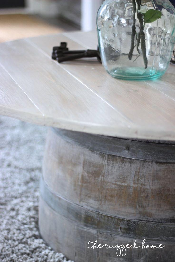 Wine Barrel Coffee Table, Make An Easy Wine Barrel Coffee Table, Farmhouse  Coffee Table