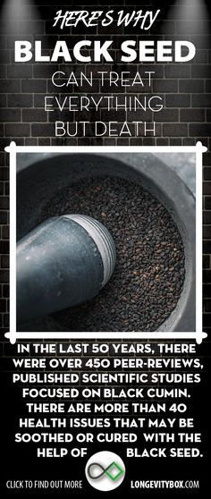 Black seed the remedy for everything but death