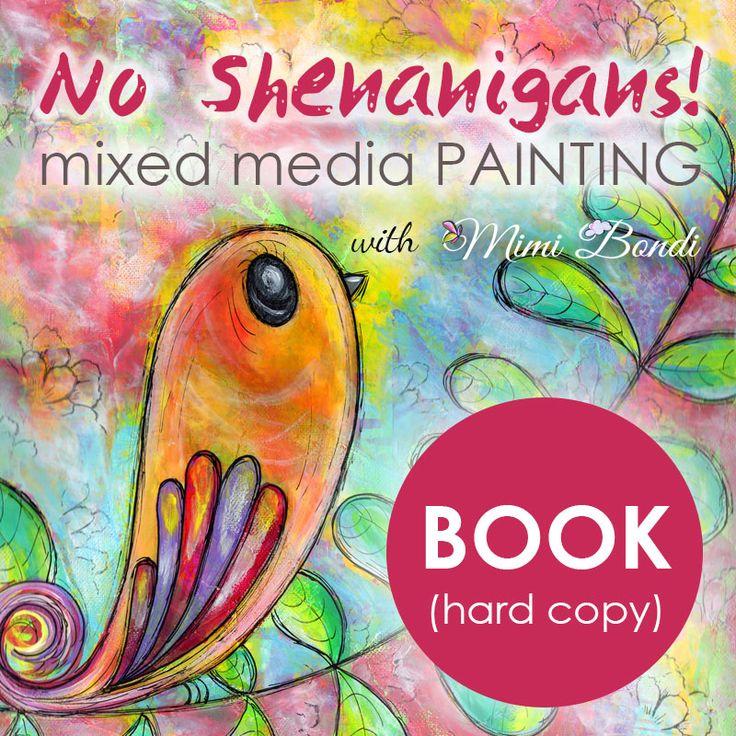No Shenanigans! Mixed media book (FREE SHIPPING)