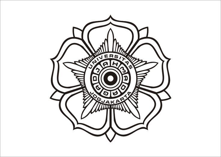 Universitas Gadjah Mada Hitam Putih Logo Vector