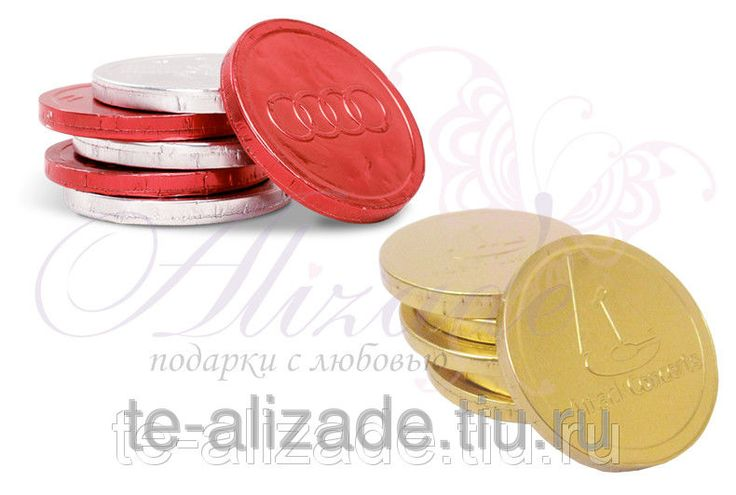 Шоколадные монеты с логотипом - Рекламно-производственная компания «Ализаде» в Москве
