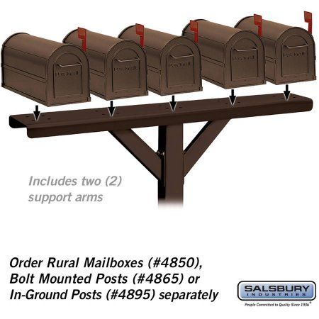 Salsbury Industries Spreader, 5 Wide with 2 Supporting Arms, For Rural Mailboxes and Townhouse Mailboxes, Bronze