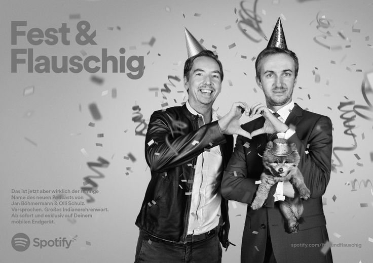 "OLLI SCHULZ & JAN BÖHMERMANN: Ab 15. Mai ""Fest & Flauschig"" bei Spotify"