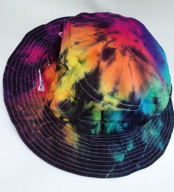 Hey, I found this really awesome Etsy listing at https://www.etsy.com/listing/177431537/rainbow-tie-dye-bucket-hat-for-him