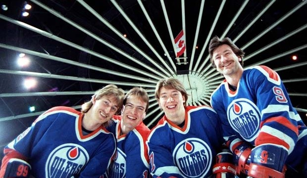 Gretzky, Messier, Kurri, Anderson. A  great hockey dynasty.