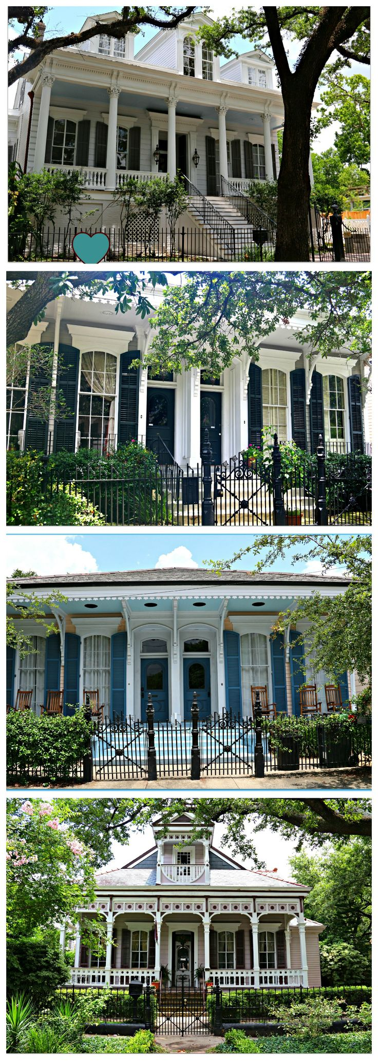 New Orleans Porches.  I'm a huge fan of the big wrap around porches, especially in the south.