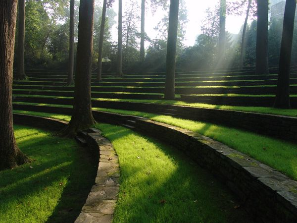 Scott Outdoor Amphitheatre, Swarthmore College, PA. Designed by Thomas Sears and completed in 1942