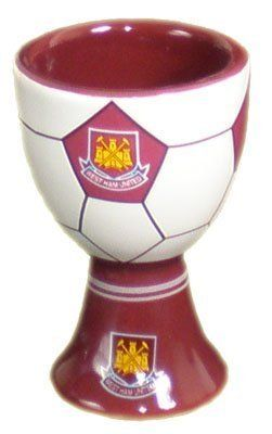 West Ham United Fc Official Ceramic Egg Cup by West Ham United Fc. $14.75. Traditional Logo & Colours. Official West Ham United Fc Football Club Merchandise. Approximately 8Cm In Height. The West Ham United Fc Football Club Official Crested Ceramic Egg Cup Makes A Novel Gift Or Souvenir For Any Hammers Supporter. Measuring Approximately 8Cm In Height, The Official West Ham United Fc Football Club Ceramic Egg Cup Features The World Famous Hammers Football Club Crest Both Insi...
