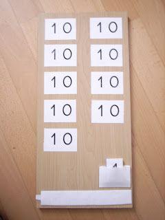 La 1ère table de Seguin est présentée quand l'enfant est déjà familiarisé avec le système décimal. Le but est de connaître les symboles ...