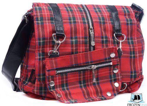 Gothic Tartan Small Messenger Bag | Red | Gothic shoulder Bag | College / Travel / Leisure bag | Sling Bag for School | Crossbody Bag Black | Hobo Bag for Teens | DBG2330 (Red) Gothic Bags http://www.amazon.com/dp/B00IE9ABHQ/ref=cm_sw_r_pi_dp_G4a0tb15YC2Q30FD