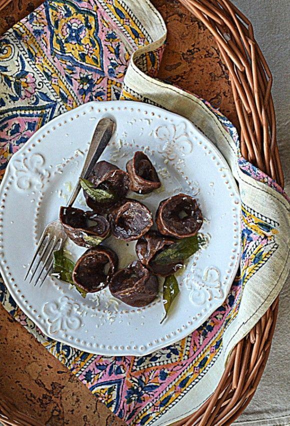 Cappellacci kakaowe z dynią i ricottą #gryz #MagazynGRYZ