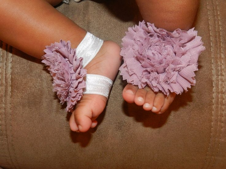 Baby sandals- Purple shoes - Unique purple baby shoes- barefoot sandals- stretchy - ribbon- photo prop- baby by Zoeskloset on Etsy