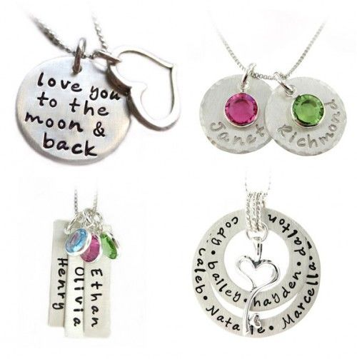 Custom jewelry.  Great gift idea for engagement or grandma.